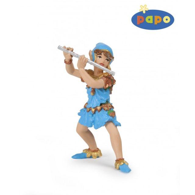 Figurina Papo,trubadur cu flaut