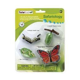 Figurina Safari,ciclul vietii,fluture,set