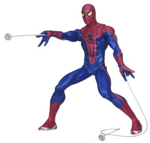Figurina Spider-Man cu panza de paianjen