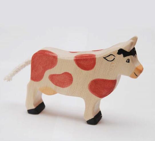 zzFigurina Vaca maro din lemn