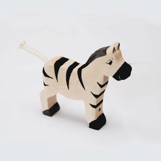 zzFigurina Zebra din lemn