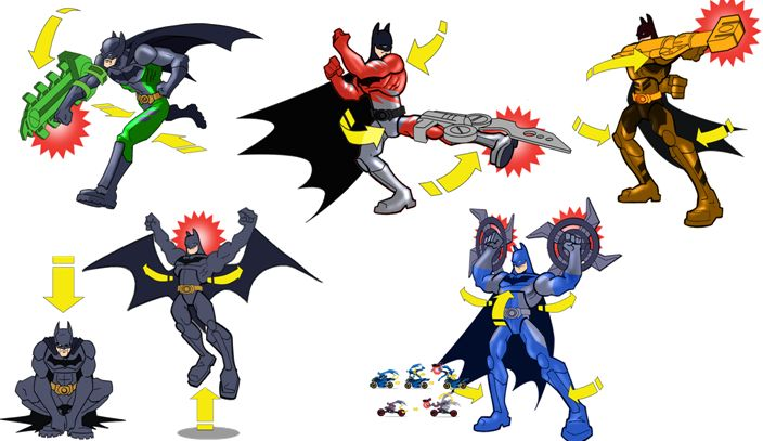 zzFigurine Batman, in miscare