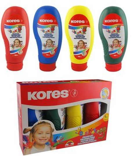 Finger paint Kores DeliKolor,4x150ml