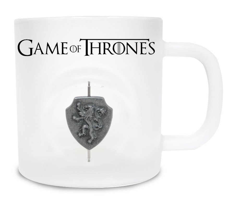Game of Thrones Mug 3D Rotating Logo Lannister