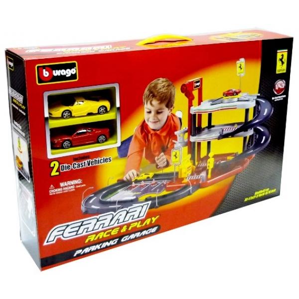 zzGaraj Bburago Ferrari cu 2 masini 1:43