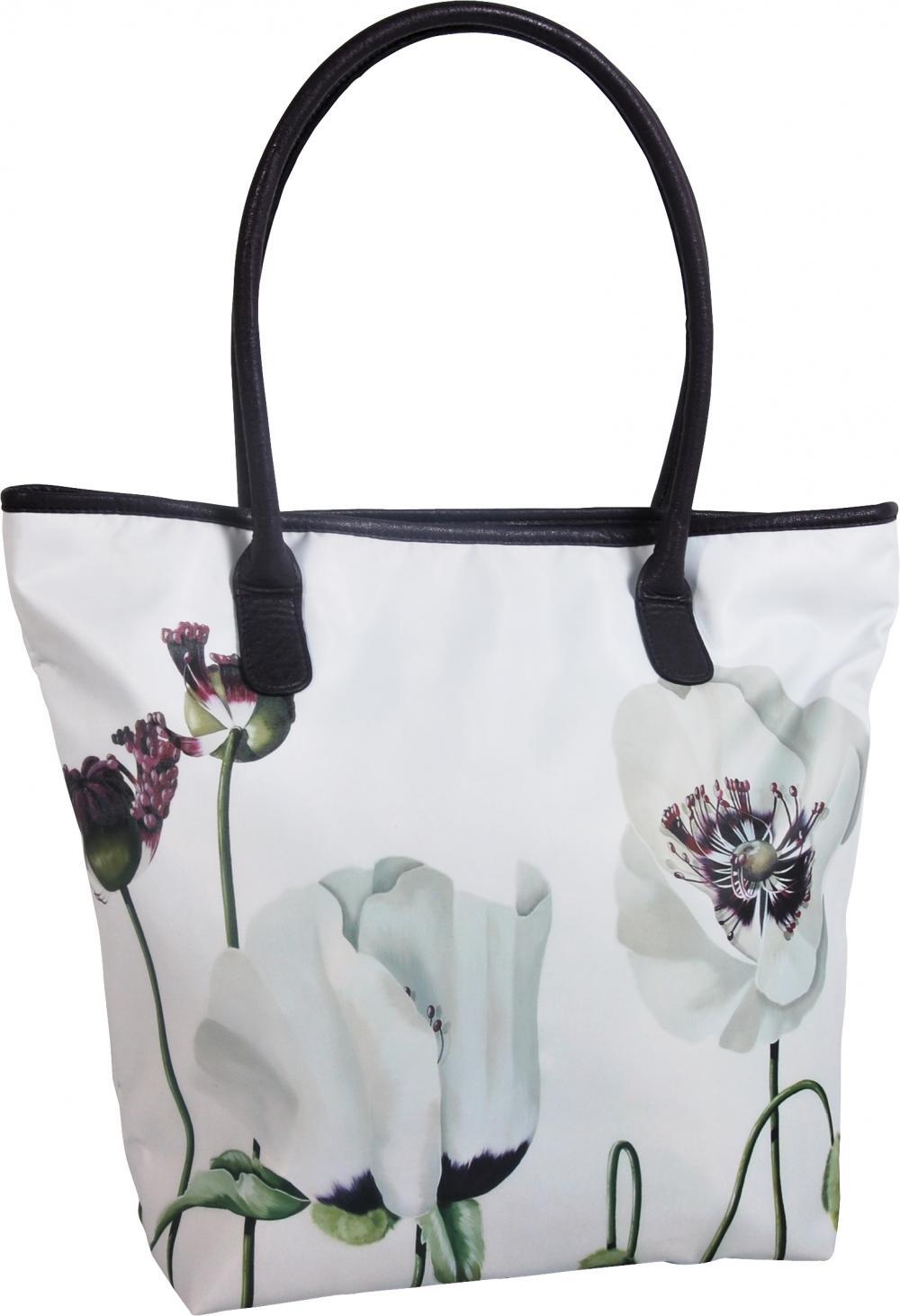 zzGeanta shopping Satin,43.5x36x13cm,alb