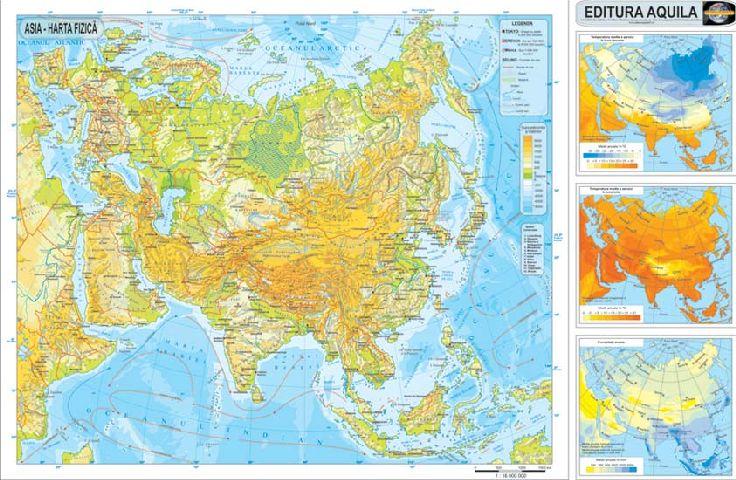 Harta Asia,fizica/administrativa,120x160cm