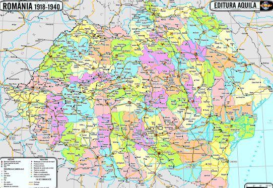 Harta Istorica Romania Europa 70 100cm Aqu006