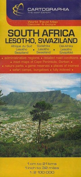 Harta rutiera Africa de Sud, Lesotho, Swaziland 1 :2.500.000