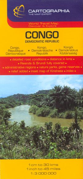 Harta rutiera Congo 1 :3.300.000
