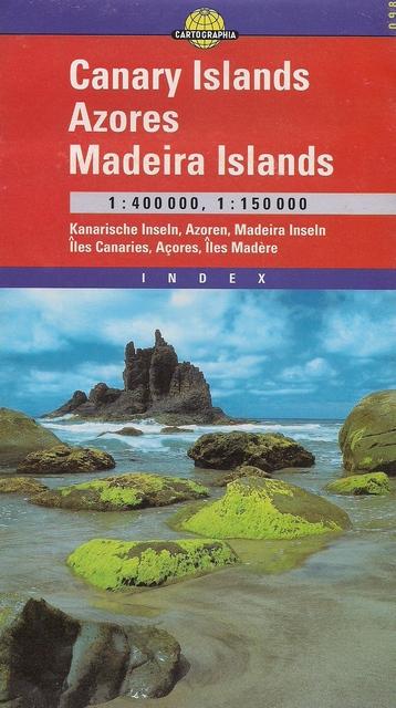 Harta rutiera Insulele Canare, Azore, Madeira 1 :400.000, 1 :150.000