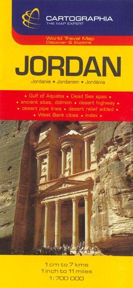 Harta rutiera Iordania 1 :700 000