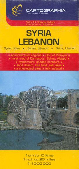Harta rutiera Siria, Libanon 1 :1.000.000