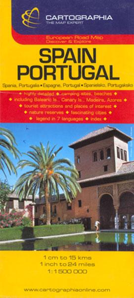 Harta Rutiera Spania,Portugalia 1:1.500.000, ***
