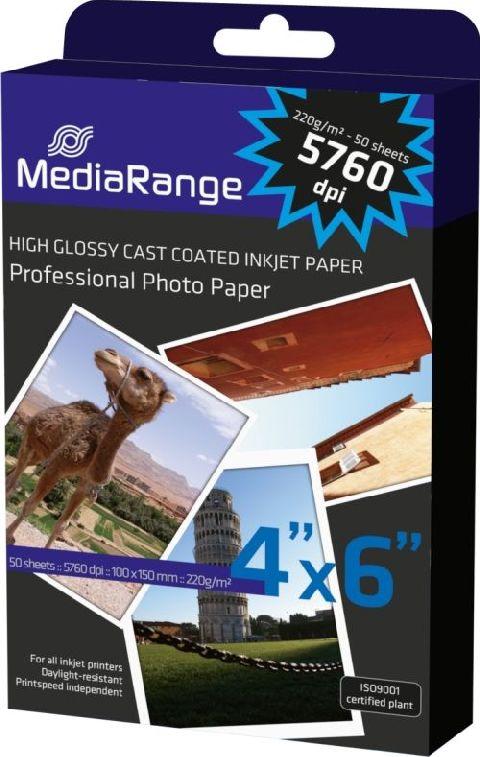 Hartie foto lucioasa,10x15cm,Media Range,50coli,220g