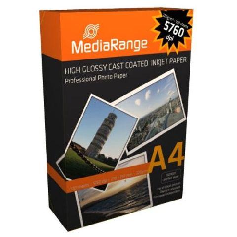 Hartie foto lucioasa A4 Media Range 220g 100 coli