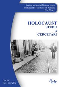 HOLOCAUST. STUDII SI CERCETARI VOLUMUL 4 NR.1(5)/2012