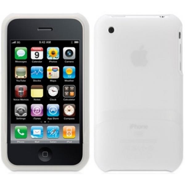 Husa Outfit pentru iPho ne 3G+3GS - White Trans