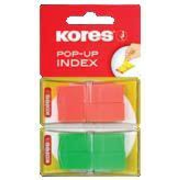 Index Kores Pop-Up 2 culori 4x40 file