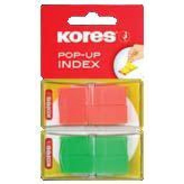 Index Kores Pop-Up 2 culori 4x40 file