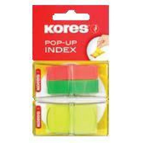 Index Kores Pop-Up 3 culori 2x40+x50file