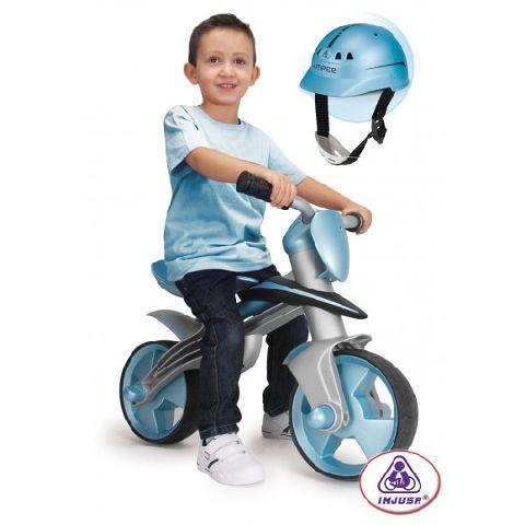 Injusa-Bicicleta fara pedale,casca protectie,Jumper