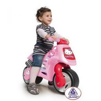 Injusa-Motocicleta fara pedale,Hello Kitty