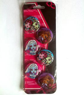 Insigne 6buc/set,MonsterHigh