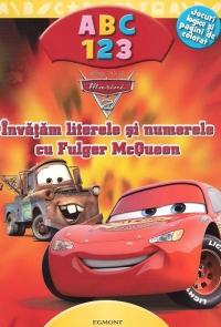 Invatam literele si numerele cu fulger McQueen jocuri logice si pagini de colorat -