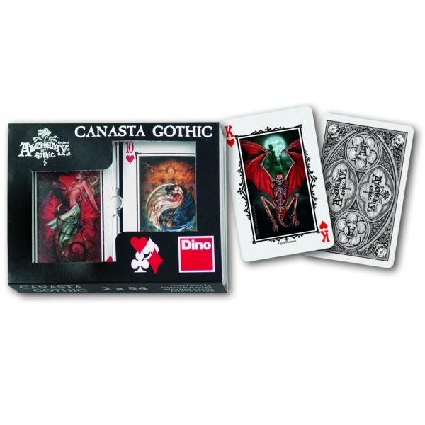 Joc de carti Canasta Gothic, 2 x 54 pcs.