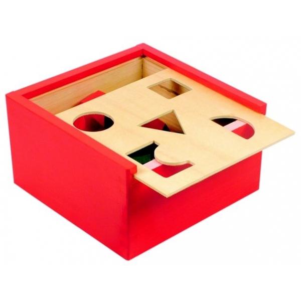 Joc potriveste formele cutie lemn