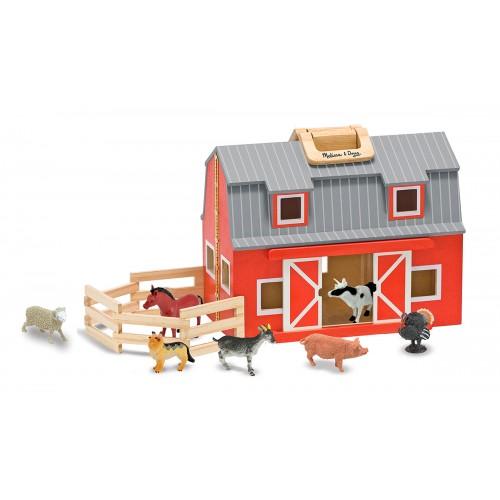 Jucarie lemn grajd de vaci