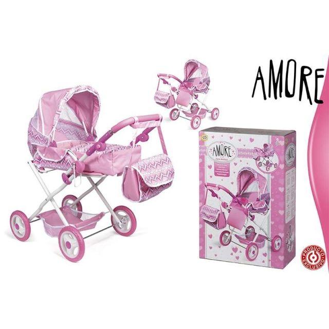 Landou pt papusi,4in1,roz,Amore