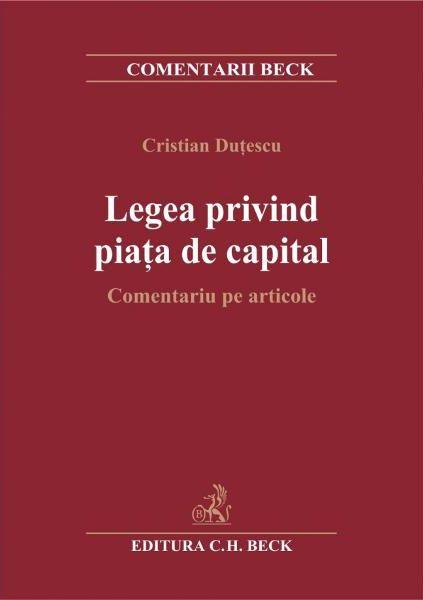 LEGEA PRIVIND PIATA DE DE CAPITAL. COMENTARIU