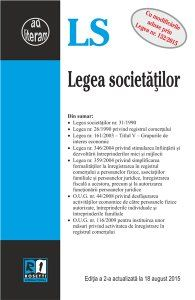 LEGEA SOCIETATILOR - EDITIA A 2-A (2015-08-18)