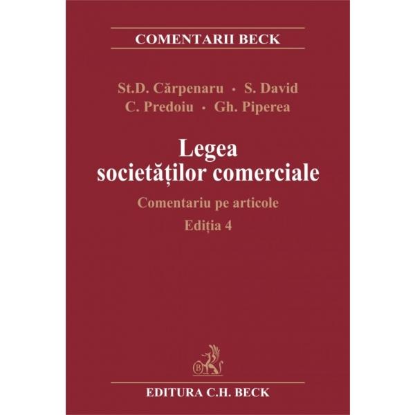 LEGEA SOCIETATILOR COM ERCIALE. COMENTARIU PE