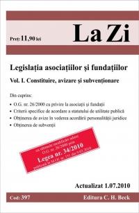 LEGISLATIA ASOCIATIILOR SI FUNDATIILOR, VOL 1.