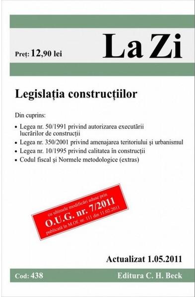 LEGISLATIA CONSTRUCTIIL TIILOR (COD 383) ACTUAL
