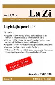 LEGISLATIA PENSIILOR ( R ( COD 381) ACTUALIZAT