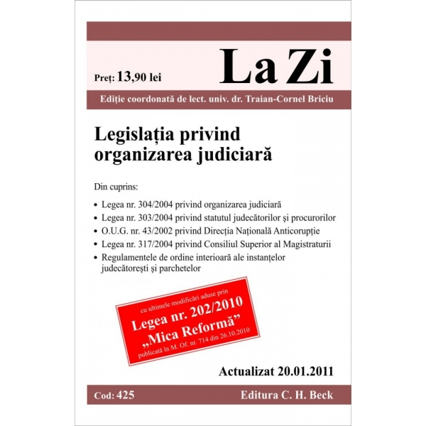 LEGISLATIA PRIVIND ORGA NIZAREA JUDICIARA (COD