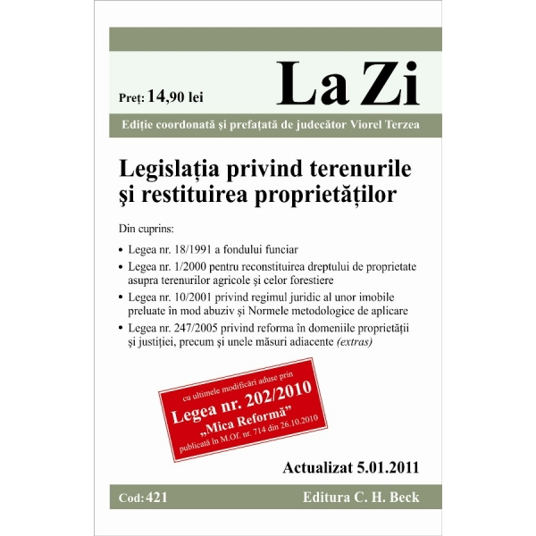 LEGISLATIA PRIVIND TERE NURILE SI RESTITUIREA P