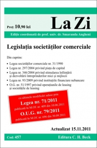 LEGISLATIA SOCIETATILOR COMERCIALE ( COD 457) ACTUALIZATA LA 15.11.2011