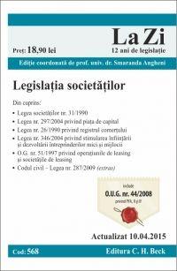 LEGISLATIA SOCIETATILOR LA ZI COD 568 (ACT 10.04.2015)