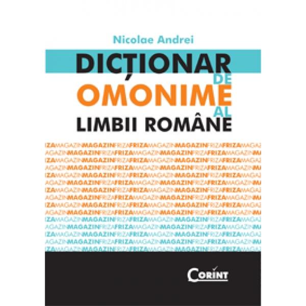 DICTIONAR DE OMONIME LIMBA ROMANA