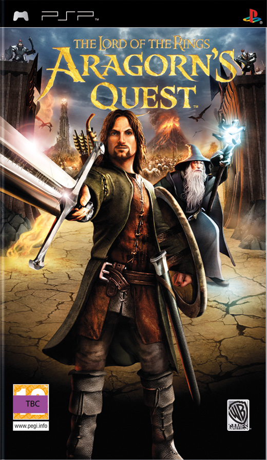 LORD OF THE RINGS ARAGONS QUEST PSP