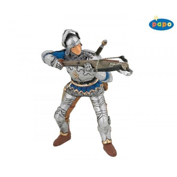 Luptator cu arbaleta si armura, albastru