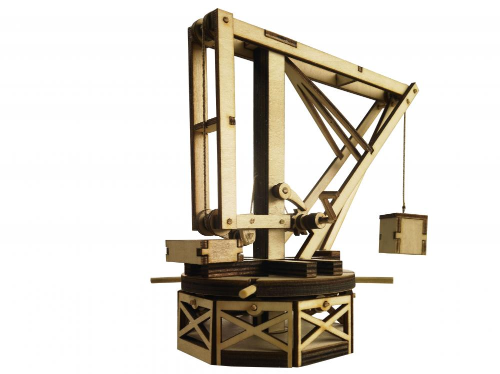Macara hidraulica lemn Leonardo da Vinci