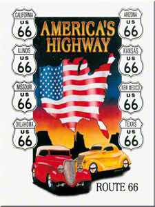 MAGNET ROUTE 66 AMERICA'S HIGHWAY