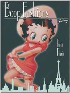 MAGNET BETTY BOOP FASHIONS