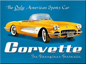 Magnet Corvette Yellow